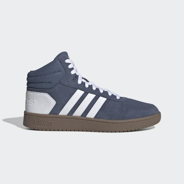 adidas Hoops 2.0 Mid Schuh Blau | adidas Deutschland