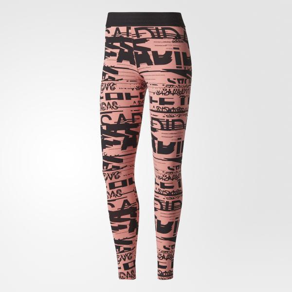 adidas Sport ID Allover Print Tights Pink   adidas US