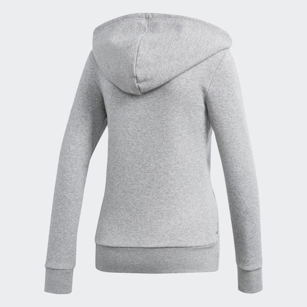 adidas Originals Womens Slim Hoodie Medium Grey Heather