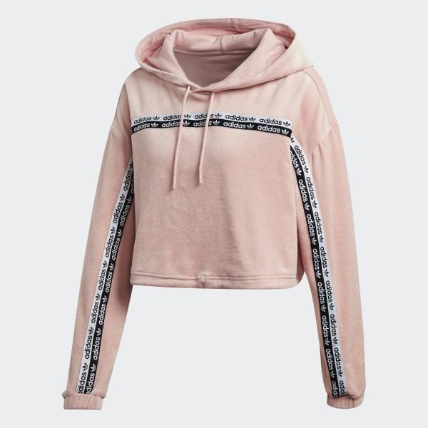Adidas falcon pink cropped bomber jacket Adidas pink cropped