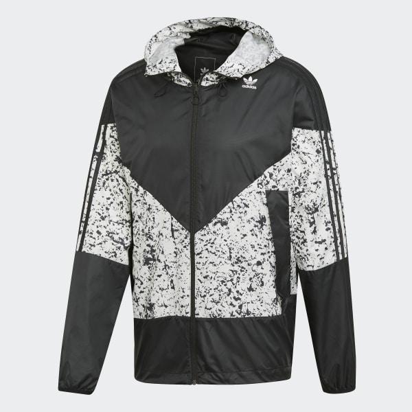 Adidas Originals PT3 Karkaj Windbreaker Jacket, Black White