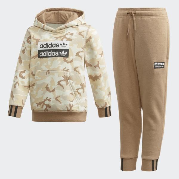 adidas r.y.v. hoodie light brown