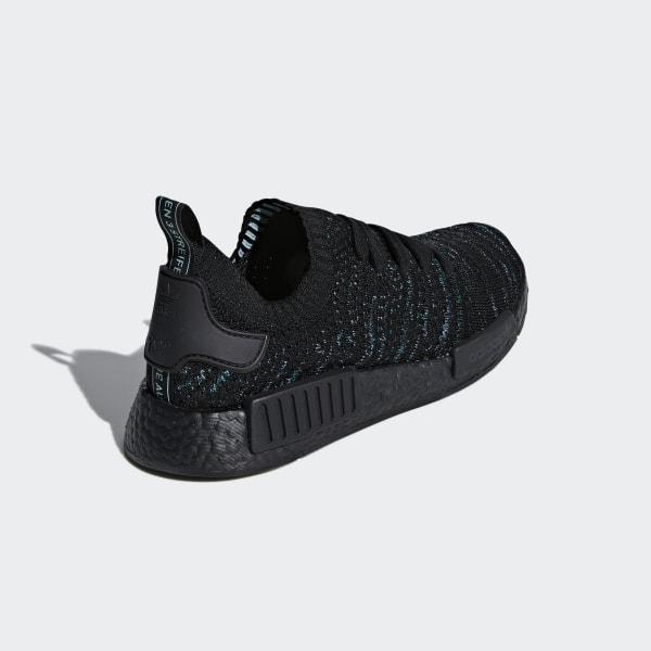 adidas Originals Herren NMD_R1 STLT Primeknit Sneakers Schwarz
