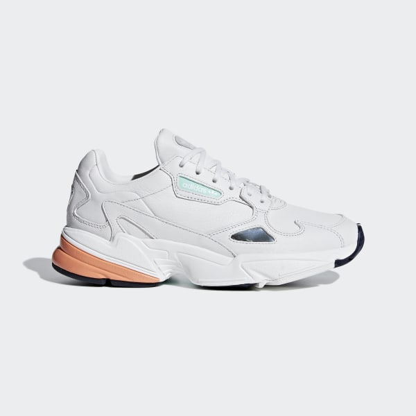adidas Originals Falcon W WhiteCrystal White Mesh Adult Trainers Shoes