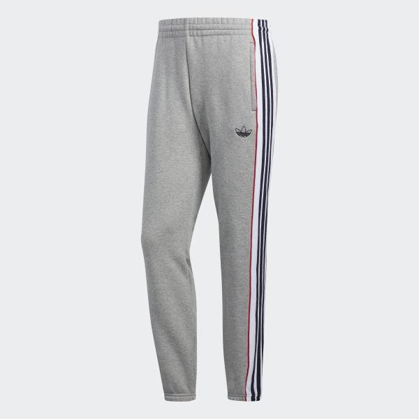 adidas 3 Stripes Panel Jogginghose Grau | adidas Deutschland