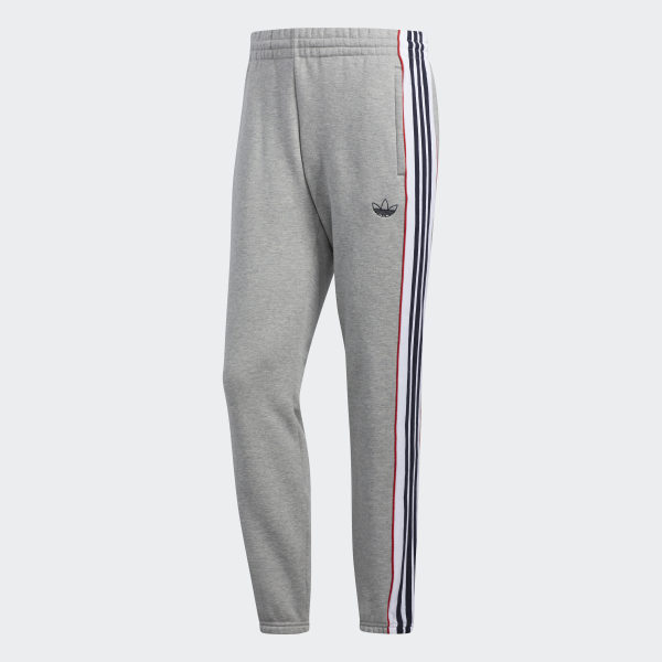 Pantalon de survêtement 3 stripes panel gris Adidas