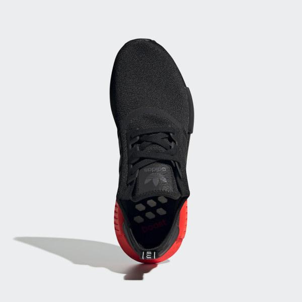 adidas nmd r1 core nero solar orange
