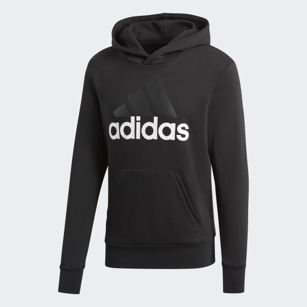 adidas Essentials Linear Pullover Hoodie Black | adidas New Zealand