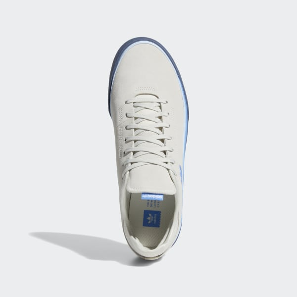 mens white & pl blue adidas skateboarding sabalo trainers