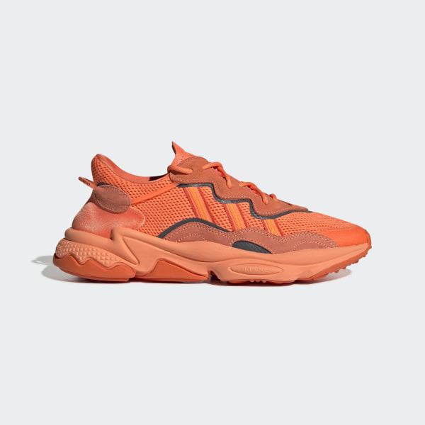 basket adidas femme orange fluo