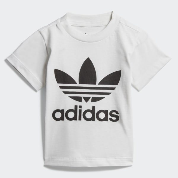 best online exquisite style discount sale adidas Trefoil T-Shirt - White | adidas UK