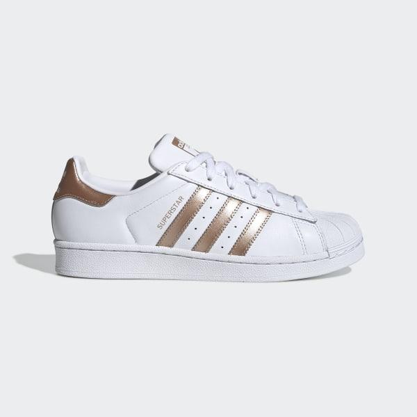 adidas superstar wit gold stripes