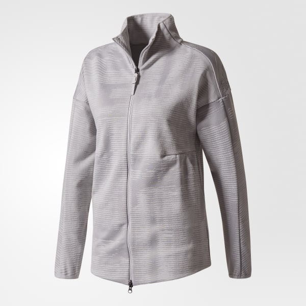 chaqueta adidas zne pulse negro gris hombre