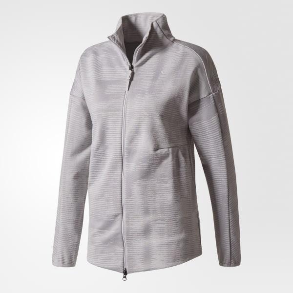adidas ZNE Pulse Covup Jacket Damen Jacke grau | BS4908
