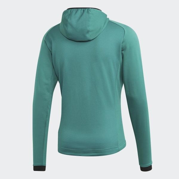 adidas Terrex Stockhorn Hooded Fleece Jacket Green | adidas Belgium