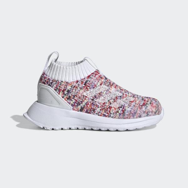 Shop Kids Adidas Girls rapidarun laceless knit Fabric Low