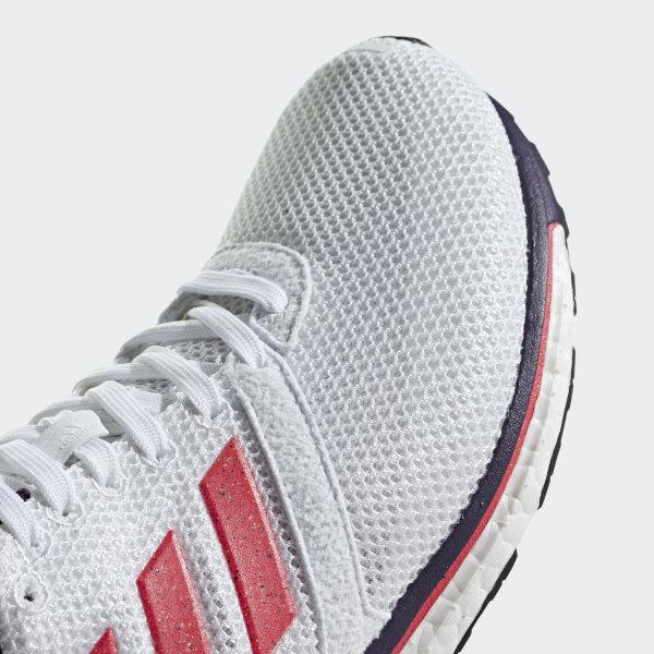 Adidas Adizero Boston 7 W Grey TwoCloud WhiteShock Red