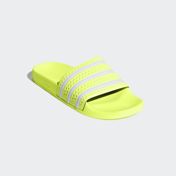 adidas slippers fluo geel