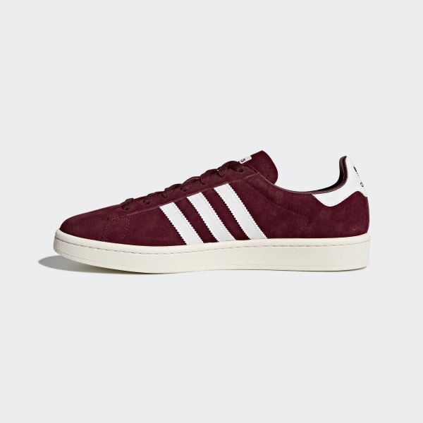 Adidas Men/'s Athletic Sneakers Shoes Originals Campus Red Premium Nubuck DB0984