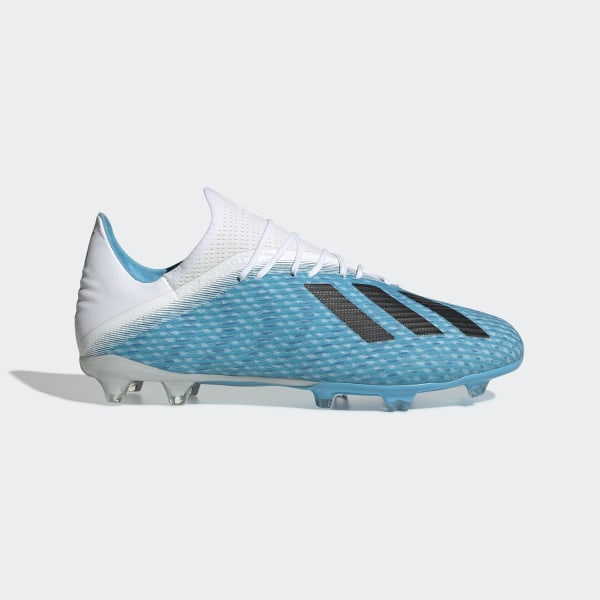 calcio ADIDAS scarpe da calcio x 19.1 fg cyan nero rosa uomo
