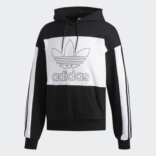 Buy Black adidas Originals Outline Hoodie   JD Sports