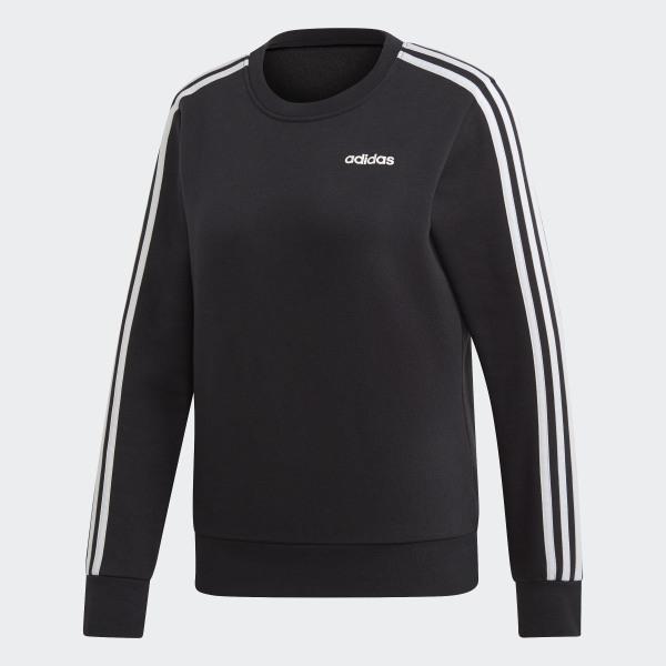 adidas Essentials 3 Stripes Sweatshirt Black | adidas US