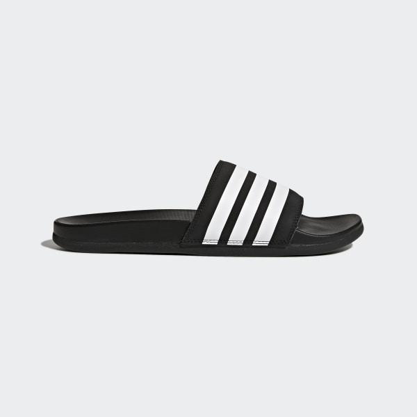 adidas Adilette Cloudfoam Plus Stripes Badslippers - Zwart | adidas Officiële Shop
