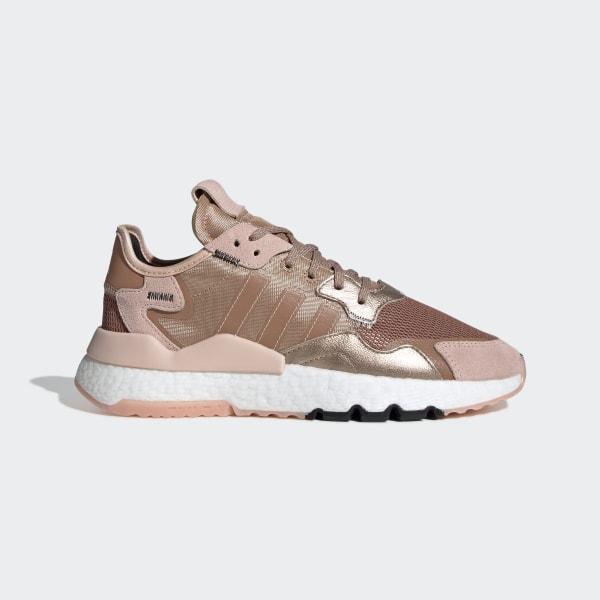 Details zu Adidas Nite Jogger W rosa rosegold EE5908 Sneaker Schuhe Frauen