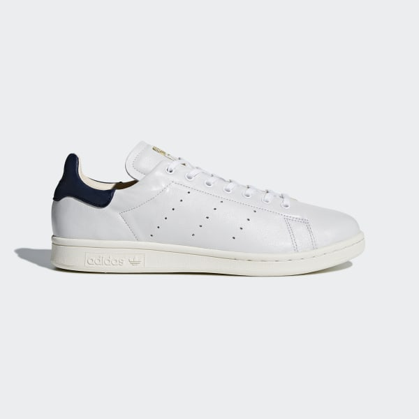 adidas white and green stan smith recon leather sneakers