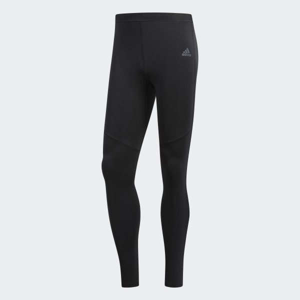 Black adidas Response Mens Long Running Tights