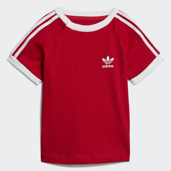 adidas 3-Stripes Tee - Red | adidas New Zealand