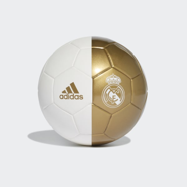 Real Madrid Mini Football White / Dark Football Gold DY2529
