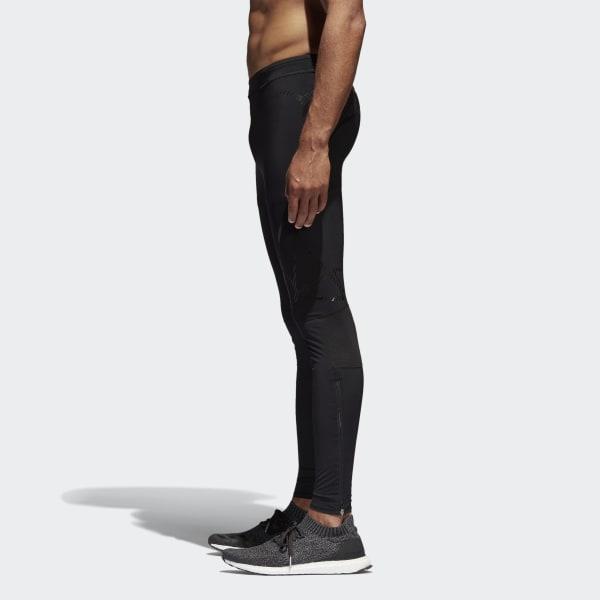 Mens Adidas AdiZero Sprintweb Short Running Tights Black