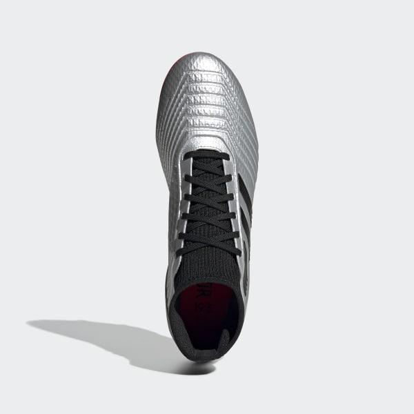 Adidas PREDATOR 19.3 Gras Voetbalschoenen (FG) Kids Zilver