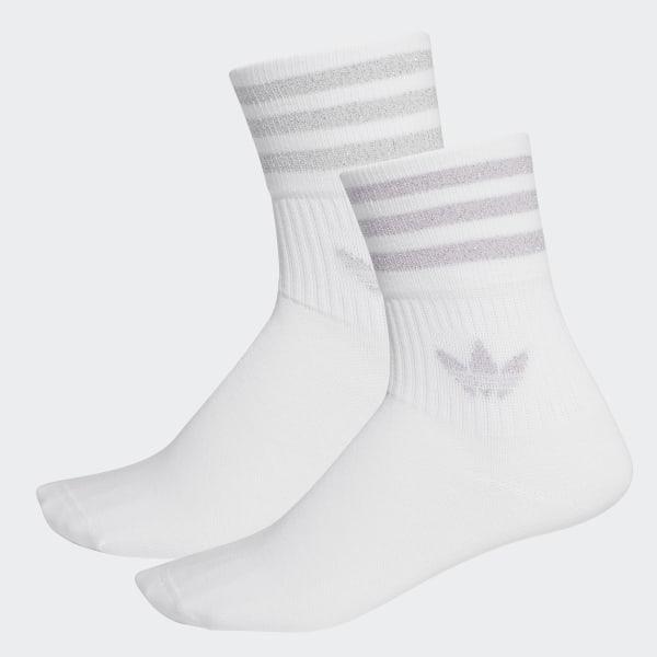 adidas Mid Cut Glitter Crew Socken, 2 Paar Weiß | adidas Deutschland
