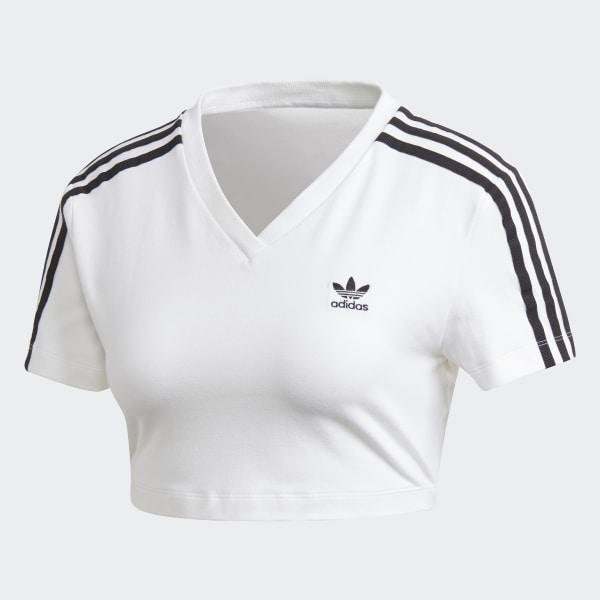 adidas Cropped T Shirt Weiß | adidas Deutschland