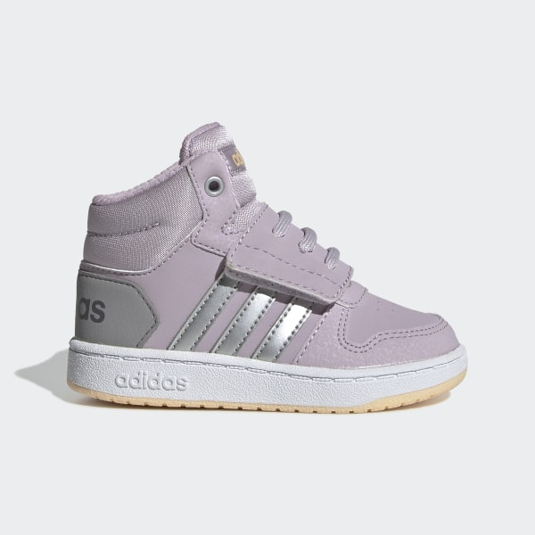 adidas Hoops 2.0 Mid Shoes Purple | adidas US