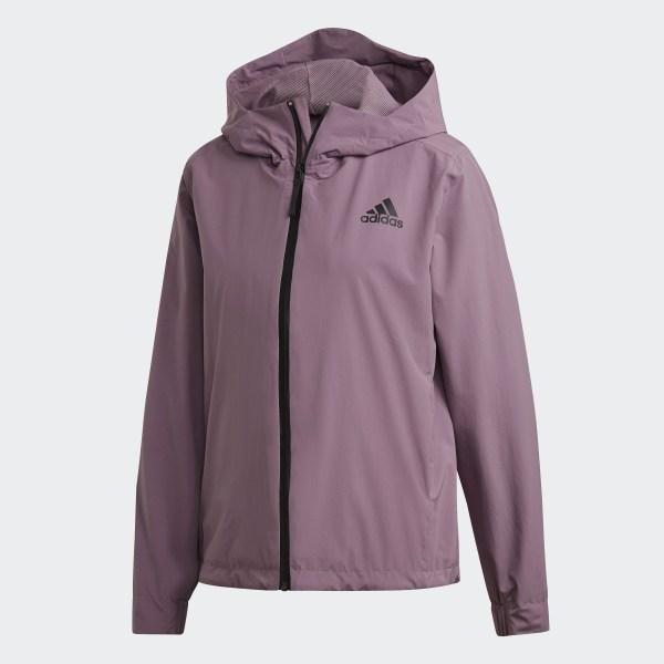adidas 3 Stripes RAIN.RDY Jacket Lila | adidas Sweden