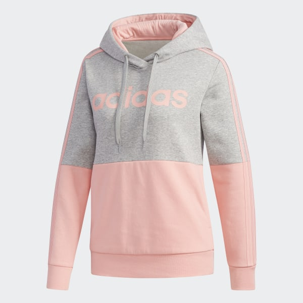 Adidas Women's Originals Colorblock Pullover Hoodie (Trace Khaki)