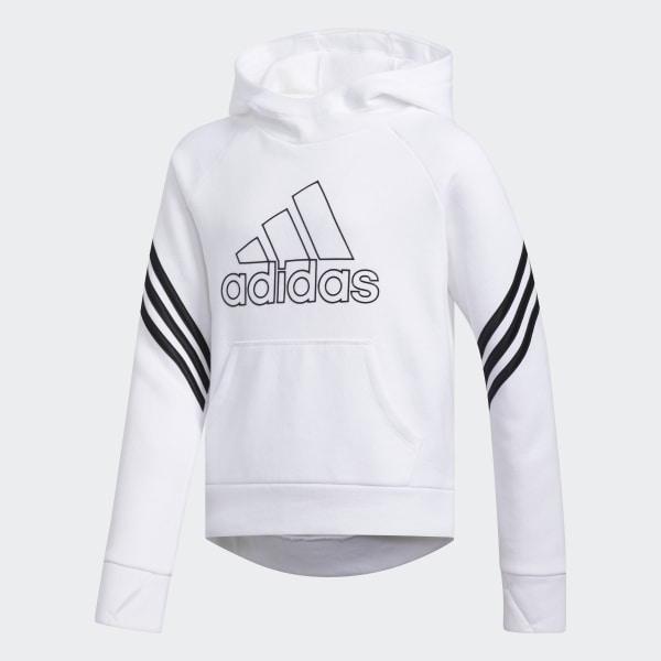 adidas French Terry Pullover Hoodie White | adidas US