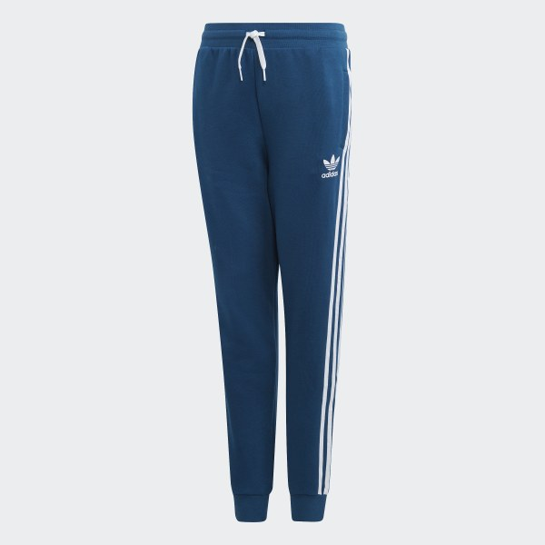 Adidas Youth 3 Stripes Designator Black Blue Tracksuit