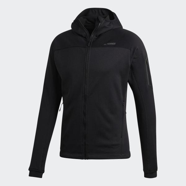 adidas Terrex Stockhorn Hooded Fleece Jacket Black | adidas US