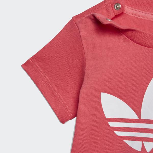 adidas Originals Baby Kleinkind Mädchen T-Shirt Trefoil Tee mit Logo Pink Rosa