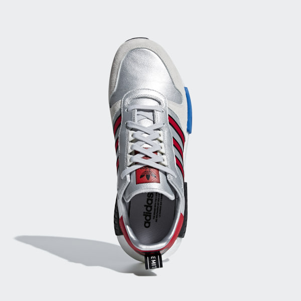 heiß adidas RISINGSTAR X R1 rising star sneakers silver size