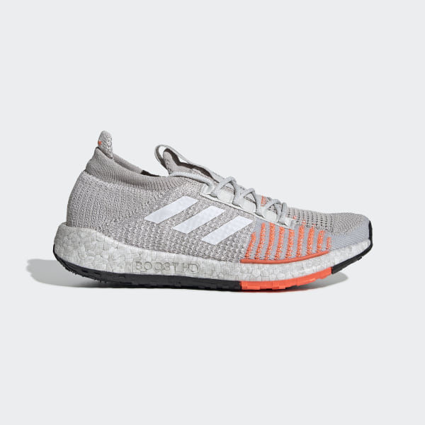 grey adidas running shoes