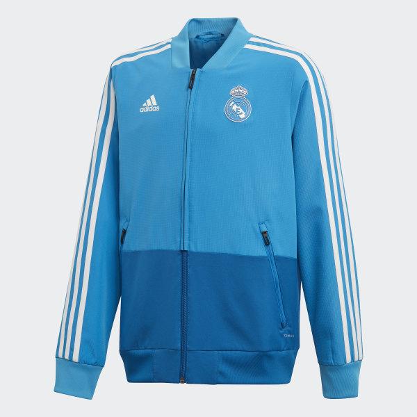 Adidas Real Madrid Presentation Suit Blau Männer