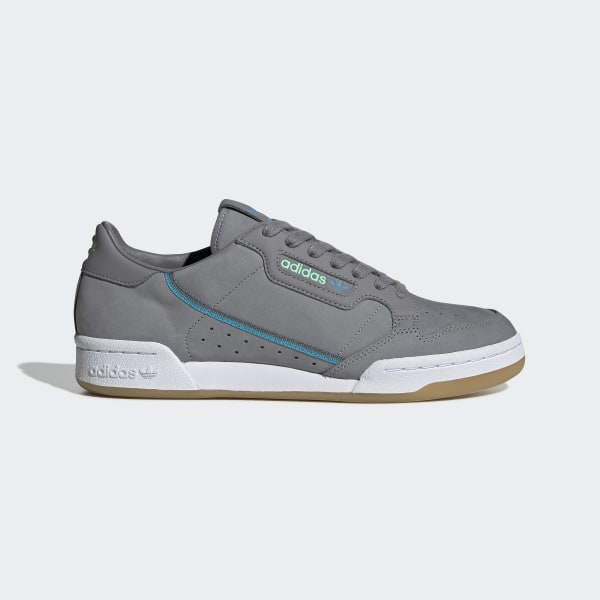 Adidas Continental 80 Trainers WhiteGreyBlue,leather,retro,TFL