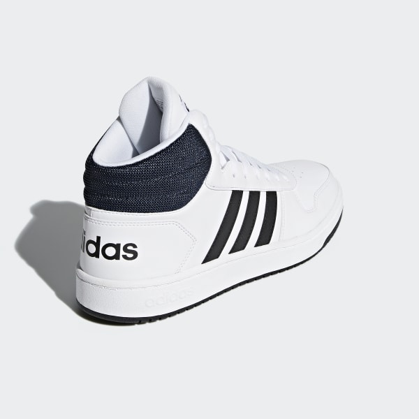 adidas Hoops 2.0 Mid Shoes White   adidas US