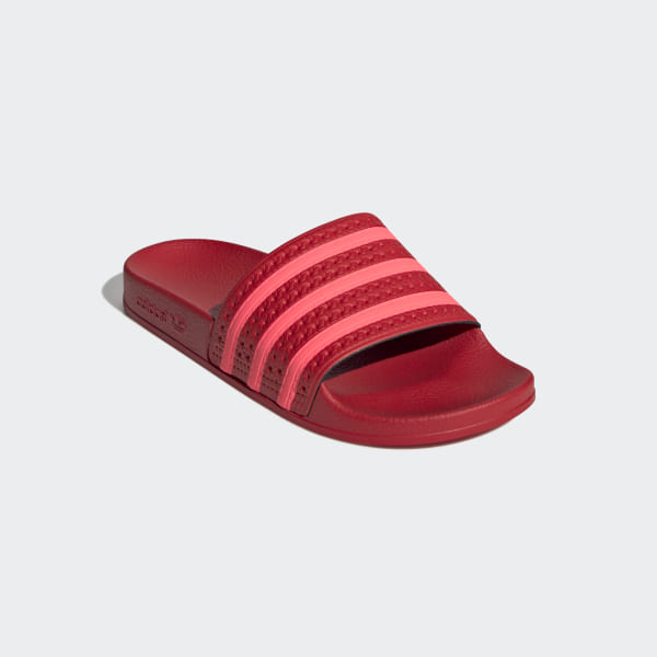 fashion styles available famous brand adidas Adilette Slides - Red | adidas Belgium