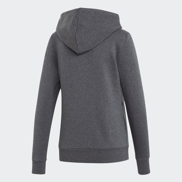 Womens adidas Essentials Lifestyle 3 Stripes Sweatshirt – Dark Grey HeatherSemi Coral